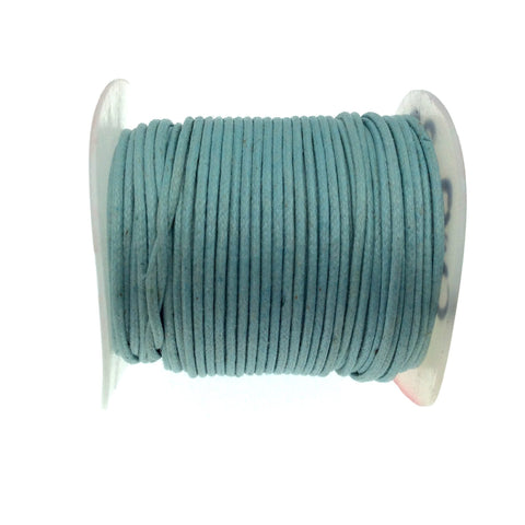 FULL SPOOL - Sky Blue Beadlanta Waxed Cotton Cord - Measuring .5mm - 27 yards per spool - Round Cotton Jewelry Cord