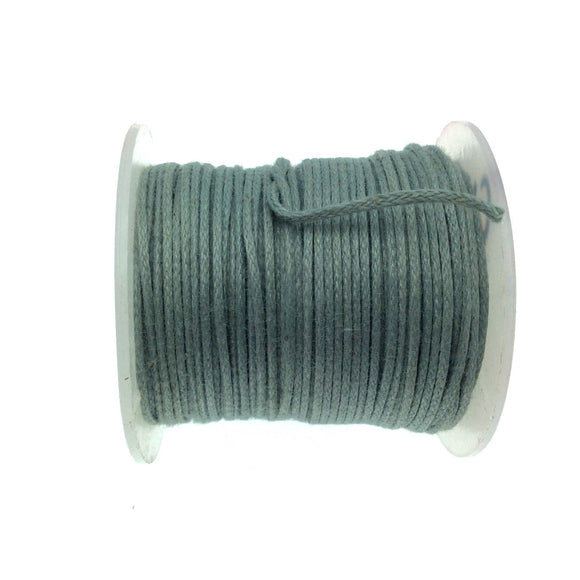 FULL SPOOL - Gray Beadlanta Waxed Cotton Cord - Measuring .5mm - 27 yards per spool - Round Cotton Jewelry Cord