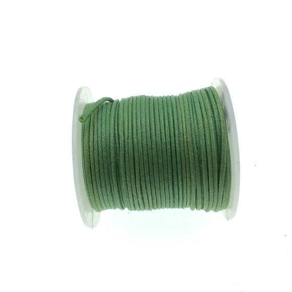FULL SPOOL - Army Green Beadlanta Waxed Cotton Cord - Measuring .5mm - 27 yards per spool - Round Cotton Jewelry Cord
