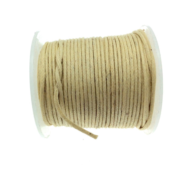 FULL SPOOL - Cream Beadlanta Waxed Cotton Cord - Measuring .5mm - 27 yards per spool - Round Cotton Jewelry Cord