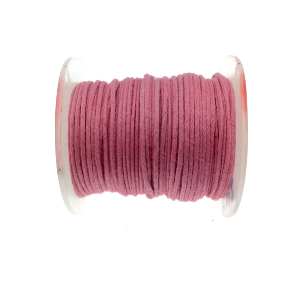 FULL SPOOL - Pink Beadlanta Waxed Cotton Cord - Measuring .5mm - 27 yards per spool - Round Cotton Jewelry Cord