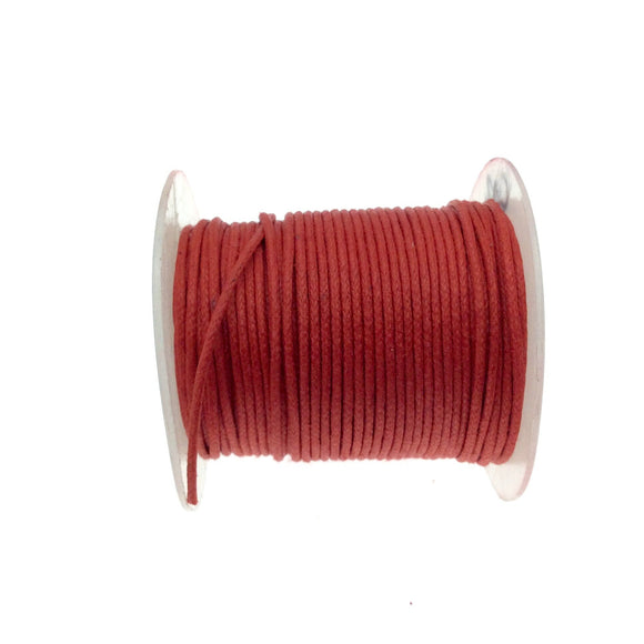 FULL SPOOL - Red Beadlanta Waxed Cotton Cord - Measuring .5mm - 27 yards per spool - Round Cotton Jewelry Cord