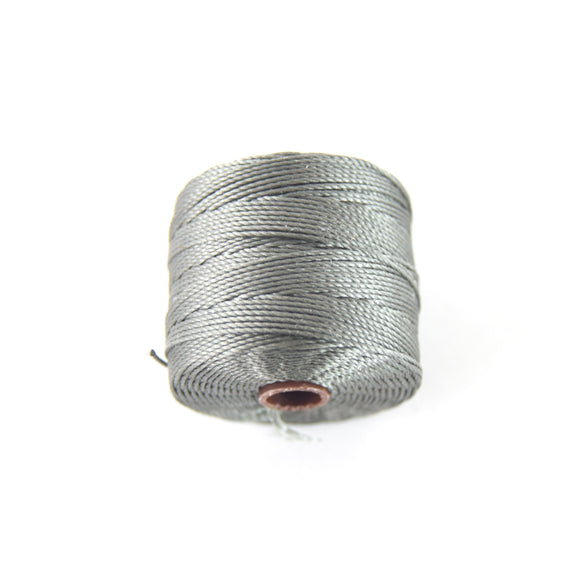 FULL SPOOL - Beadsmith S-Lon 210 Regular Smokey Brown Nylon Macrame/Jewelry Cord - Measuring 0.5mm Thick - 77 Yards (231 Feet)-(SL210-Smoky