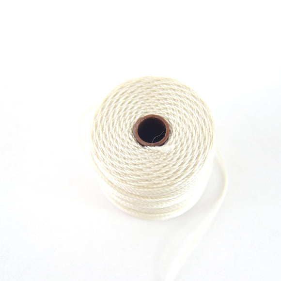 FULL SPOOL - Beadsmith S-Lon 210 Pearl Nylon Macrame/Jewelry Cord - Measuring 0.5mm Thick - 77 Yards (231 Feet) - (SL210-Pearl)