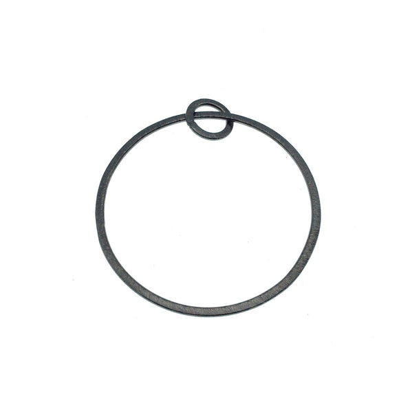 Large Sized Gunmetal Plated Copper Open Double Circle/Ring Shaped Components - Measuring 12mm, 50mm - Sold in Packs of 10 (664-GM)