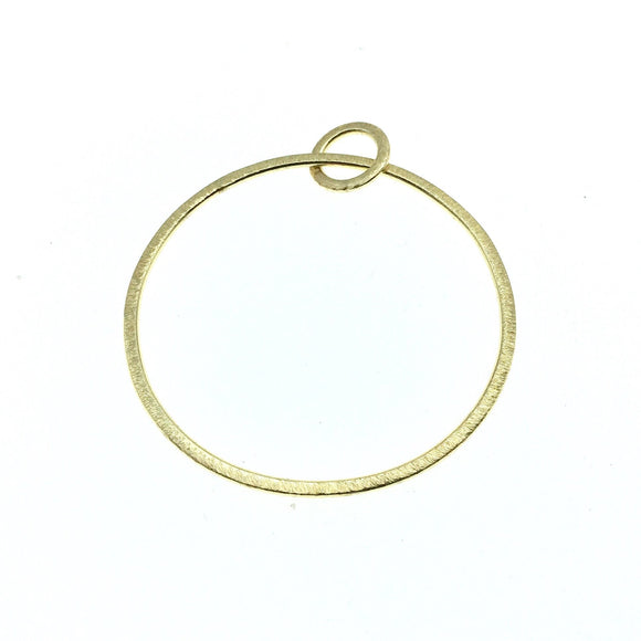 Large Sized Gold Plated Copper Open Double Circle/Ring Shaped Components - Measuring 12mm, 50mm - Sold in Packs of 10 Pieces (664-GD)