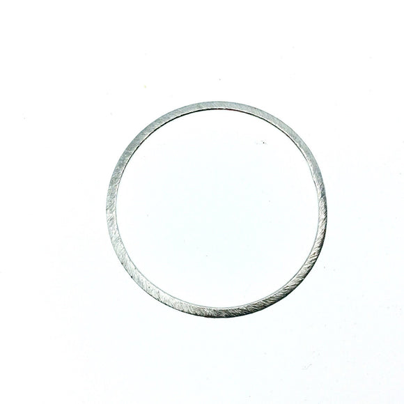 38mm Silver Brushed Finish Open Circle/Ring/Hoop Shaped Plated Copper Components - Sold in Pre-Counted Bulk Packs of 10 Pieces - (014-SV)