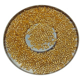 "Size 11/0 Glossy Silver Lined Gold Genuine Miyuki Delica Glass Seed Beads - Sold by 7.2 Gram Tubes (Approx. 1300 Beads per 2"" Tube)"