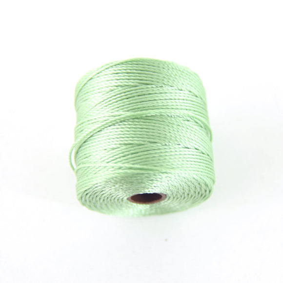 FULL SPOOL - Beadsmith S-Lon 210 Mint Nylon Macrame/Jewelry Cord - Measuring 0.5mm Thick - 77 Yards (231 Feet) - (SL210-Mint)