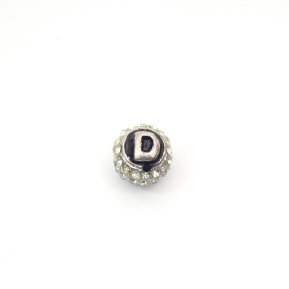 Clearance!! Silver 11mm Double-sided Letter