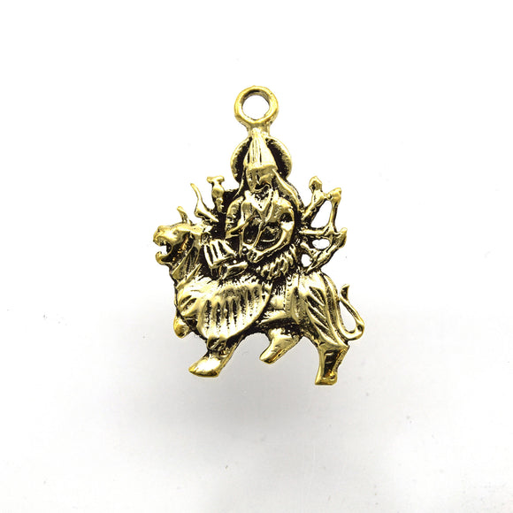 25mm x 30mm Gold Plated Copper Shiva Shaped Pendant/Charm Component - Sold Individually
