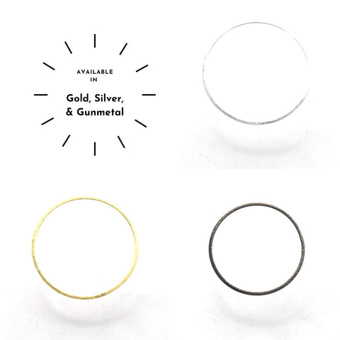 50mm Brushed Finish Open Circle/Ring/Hoop Shaped Plated Copper Components - Sold in Packs of 10