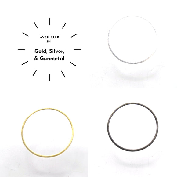 45mm Brushed Finish Open Circle/Ring/Hoop Shaped Plated Copper Components - Sold in Packs of 10