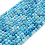 "Smooth Aqua Mottled Dyed Agate Round/Ball Shaped Beads - Sold by 15.5"" Strands - Quality Gemstone - (4mm 6mm 8mm 10mm Available)"