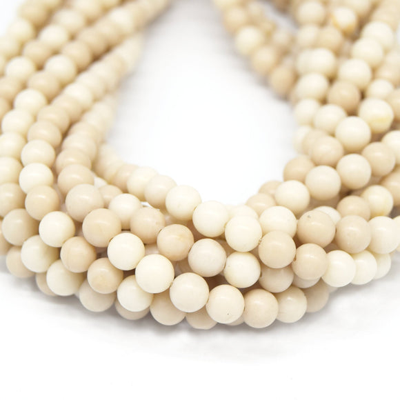 River Stone Beads | Natural Smooth Gemstone Beads- 4mm 6mm 8mm 10mm 12mm Available