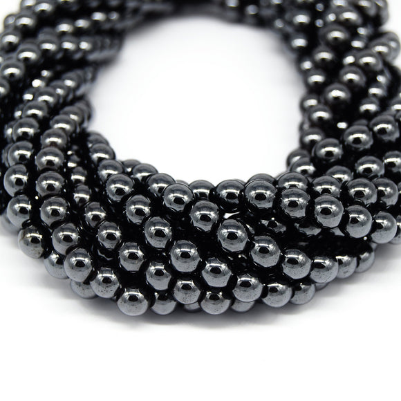 Hematite Beads |   Round Natural Gemstone Beads - 4mm 6mm 8mm 10mm Available