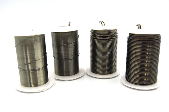Beadsmith Brand Gunmetal Plated Tarnish Resistant Jewelry Crafting/Wrapping Wire - (Sold Individually) | 16g, 18g 22g, 26g, 28g