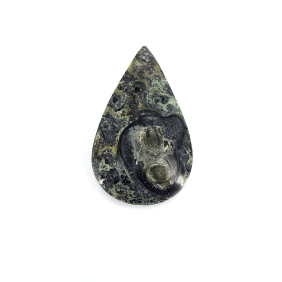 Kambaba Jasper Cabochon | Teardrop Flat Back Cabochon | 31mm x 52mm - 5mm Dome Height | OOAK Natural Gemstone Cabochon