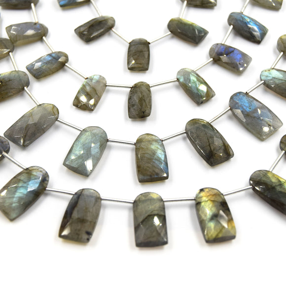 Labradorite Beads | Hand Cut Indian Gemstone | Upside Down U Shaped Beads | AAA Labradorite | Loose Gemstone Beads | Two sizes available