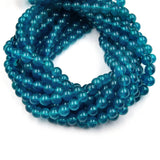 Dyed Smooth Jade Beads | Dyed Blue Teal Turquoise Green White Round Gemstone Beads -4mm 6mm 8mm 10mm 12mm Available