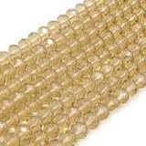 Chinese Crystal Beads | 8mm Faceted Transparent Rondelle Shaped Crystal Beads | Clear, Champagne, Tan, Yellow