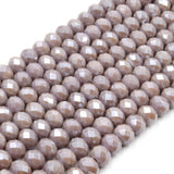 Chinese Crystal Beads | 8mm Faceted AB Coated Rondelle Shaped Crystal Beads | Purple Gray Orange Peach Tan Champagne