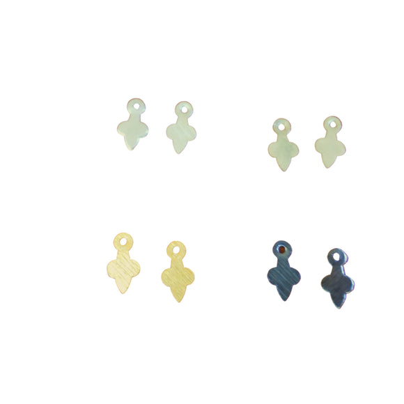 Extra Small Spade Shaped Charms/Drops Components - Measuring 6mm x 12mm - Sold in Packs of 10 Four Finishes Silver/Gold/Dark Gold/Gunmetal