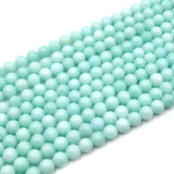 Dyed Smooth Jade Beads | Dyed Mint Green Round Gemstone Beads - 6mm 8mm 10mm 12mm Available