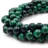 Natural Malachite Beads | UNENHANCED/UNTREATED 10mm Natural Smooth Glossy Green Malachite Round Beads