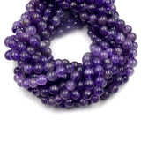Amethyst Beads | Smooth Amethyst Round Beads | 6mm 8mm 10mm | Single or Bulk Lots Available