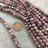 Rhodonite Round Bead Strand, 6mm, approx. 66 beads per strand