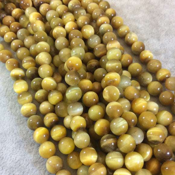 Golden Tigers Eye Round Bead Strand, 8mm, approx. 50 beads per strand