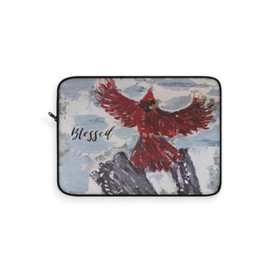 Laptop Sleeve. The Messenger. Cardinal in Flight. Personalized
