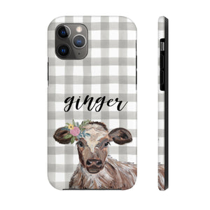 Cow Case Mate Tough Phone Cases. Personalized