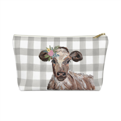 Accessory Pouch w T-bottom - Cow