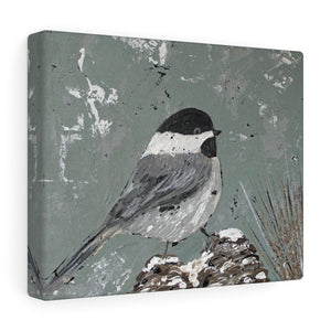 Chickadee Print. Canvas Gallery Wraps
