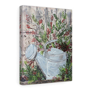 Print Of Original Art. Watering Can.  Printed On Paper or Canvas - Gin's Den