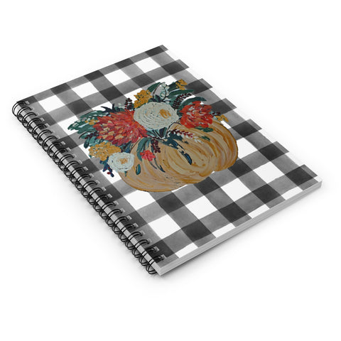 Fall Floral Pumpkin. Spiral Notebook - Ruled Line