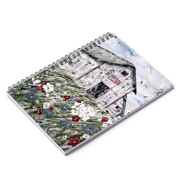Spiral Notebook - USA Barn - Ruled Line - Gin's Den