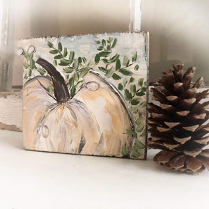 Thanksgiving Shelf Sitter | Pumpkin Painting - Gin's Den