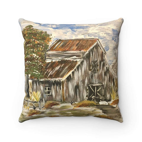 Gin's Den Pillows Barn Pillow. Thanksgiving Decor, Polyester square pillow, old barn pillows, fall decor, home decor, living room decor, throw pillows, decor