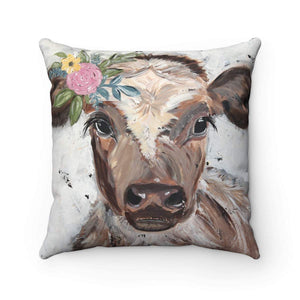 Gin's Den Pillows Cow. Spun Polyester Square Pillow. With or without pillow insert.