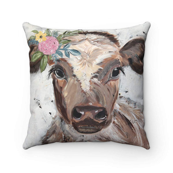 Cow. Spun Polyester Square Pillow. With or without pillow insert. - Gin's Den