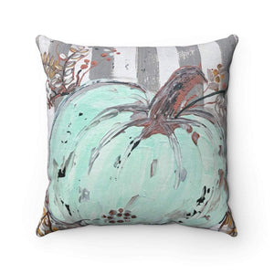 Mint Pumpkin Pillow With or Without Pillow Insert. Fall Pillow, Fall Decor, Fall Pillows,  Thanksgiving Decor, Pillows - Gin's Den