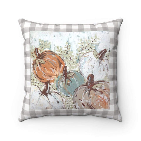 Pumpkin Patch Bright. With or Without Pillow Insert. Beautiful Accent Pillow. - Gin's Den