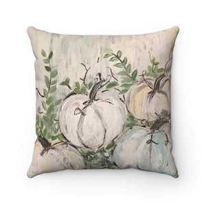Gin's Den Pillows Pumpkin Patch Muted Colors Pillow  Square Fall Decor Thanksgiving Decor Decorative Pillow Spun Polyester Square Pillow