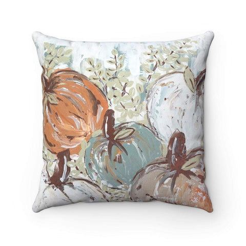 Gin's Den Pillows Pumpkin Patch Pillow Bright, Square, Fall Decor, Thanksgiving Decor, Decorative Pillow Cover, Spun Polyester Square Pillow