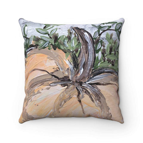 Gin's Den Pillows Pumpkin Pillow With or Without Insert, Fall Decor, Thanksgiving Decor, Home Decor, Decorative Pillow, Spun Polyester, Square Pillow, pillow