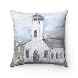 White Church Pillow. With or without Pillow Insert. - Gin's Den