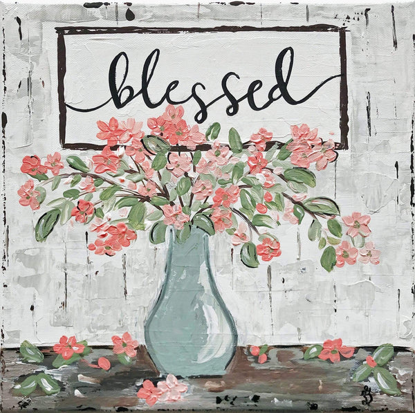 Blessed Floral. Print Of Original Art - Printed On Fine Art Paper or Canvas - Gin's Den